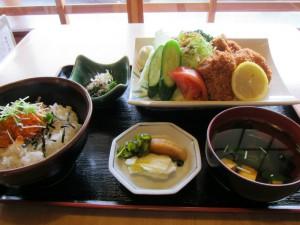 ヒレカツ定食 (1)