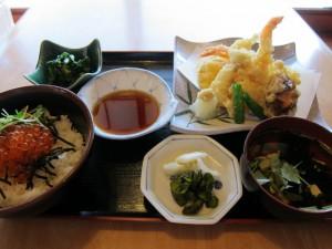 天ぷら定食 (2)